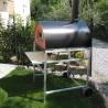 Pizzone: Supporto CON ruote in alluminio superleggero (70x90)