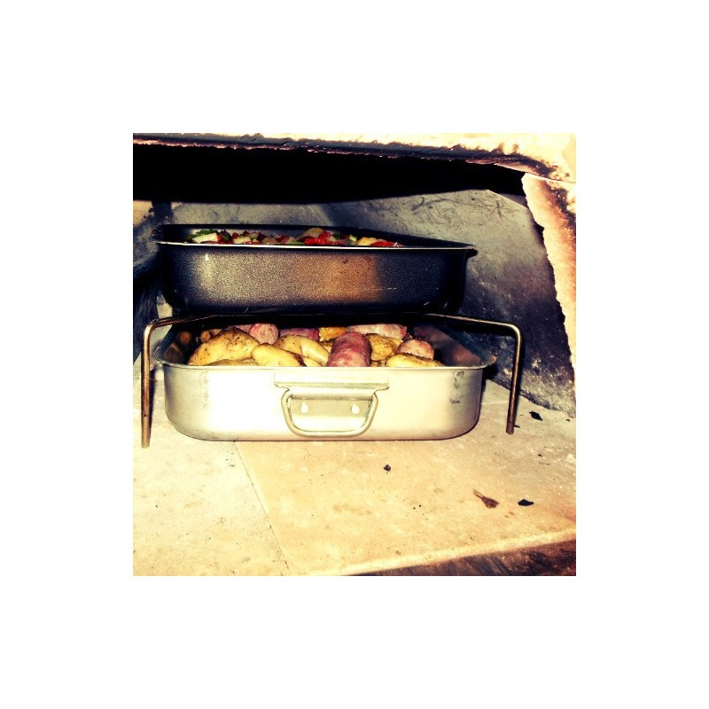 Accessori per cotture con teglie nel forno a legna portatile e a gas - Forni per pizza a legna per casa ...