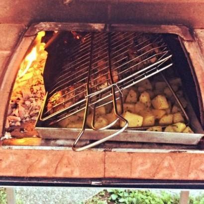 BBQ inclinato - come fare il barbecue a casa nel forno a legna