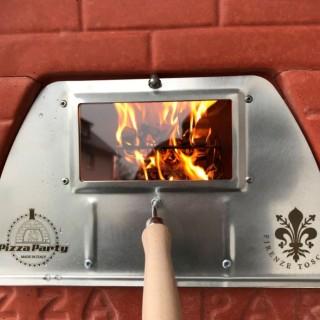 Sportello con Vetro per forno a legna 70x70 e pizzone