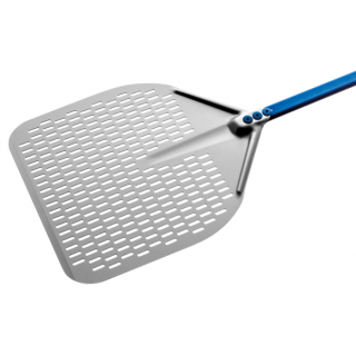 Aluminum rectangular perforated pizza peel 30cm