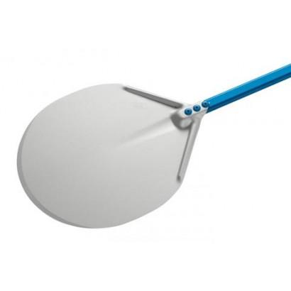 Round aluminum pizza peel with 60cm handle in aluminum