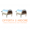 "BOX OUTLET 2 x Ardore forno a gas da esterno ""argento lucido"" GPL (propano, butano, gpl) per Europa + manuale utente"