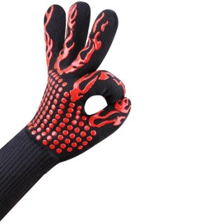 1 High temperature resistant glove for barbecue pans