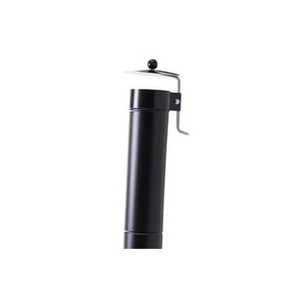 Tubo smaltato nero opaco Cm 50X12 per canna fumaria forno a legna